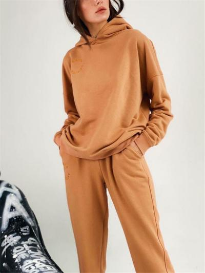 Comfortable Stylish Care-Free Silhouette 2 Piece Hooded Sweatshirt + Sweatpants