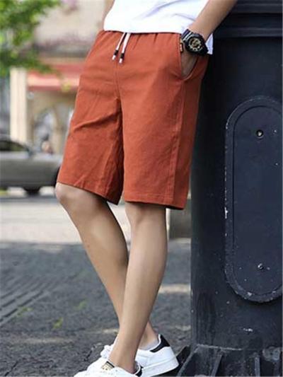 Comfy Casual Fashion Straight Elastic Waist Shorts