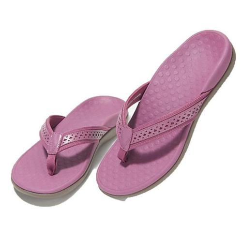 Thong Strap Cutout Detailing Massage Footbed Flat Sole Flip-Flops Sandals