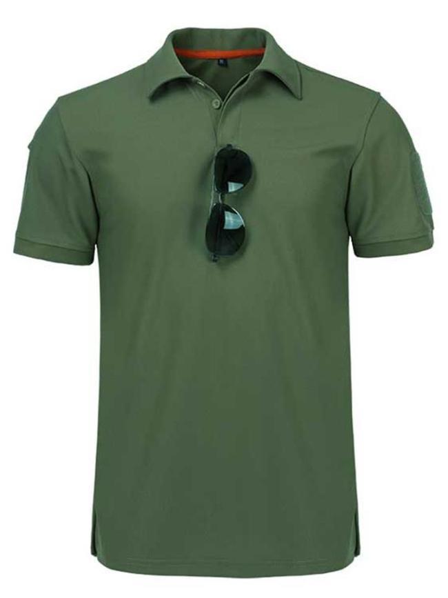 Elastane Quick Dry Tactical Short Sleeve Shirts