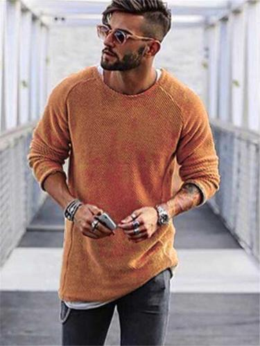 Mens Slim Fit Knitted O Neck Sweaters