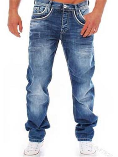 Casual Straight Classic Denim Pants