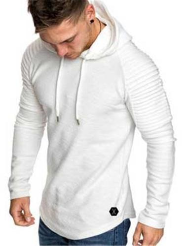 Casual Slim Fit Personality Long Sleeve Drawsting Hooded T-Shirts