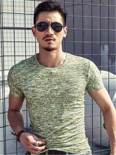 Fashion Slim Fit Breathable Short Sleeve T-Shirts