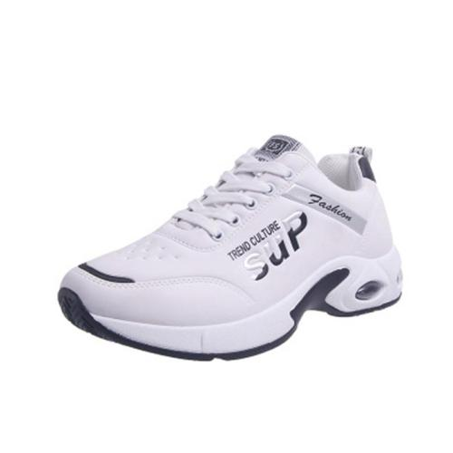 Non Slip Waterproof Logo Print Casual Shoes Lace Up Sneakers