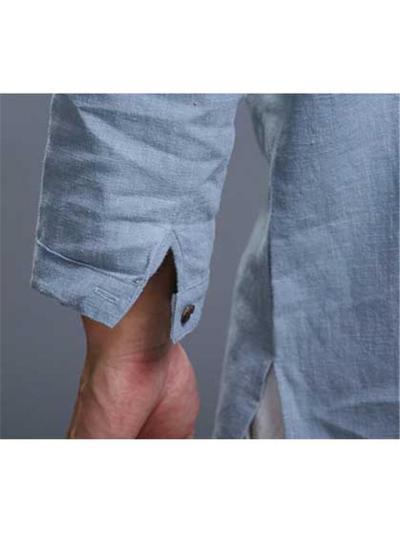 Mens Casual Plain 3/4 Sleeve Shirts