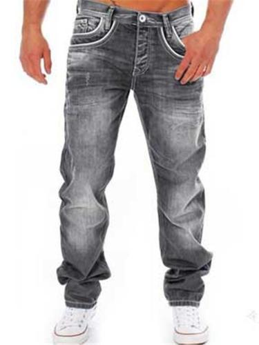 Casual Straight Classic Denim Pants