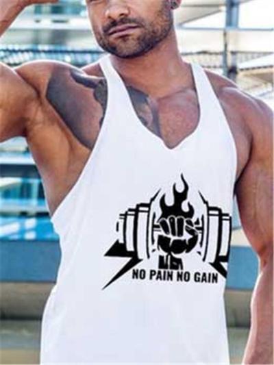 Loose Breathable Print Marathon Sports Vests