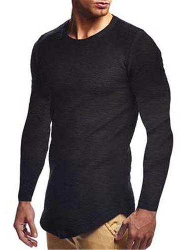 Mens Slim Fit Lightweight Comfy Long Sleeve T-Shirts