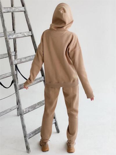 Comfortable Stylish Care-Free Silhouette 2 Piece Hooded Sweatshirt + Sweatpants