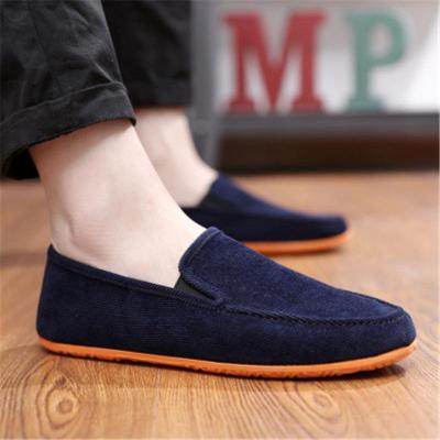 Mens Breathable Casual Lightweight Patchwork Canvas Loafers
