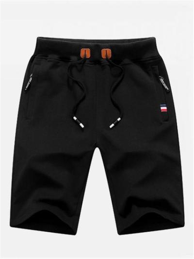 Fashion Sports Breathable Soft Drawstring Elastic Waist Knee Shorts
