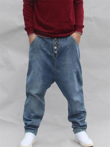 Loose Hip Hop Button Up Personality Harem Jeans