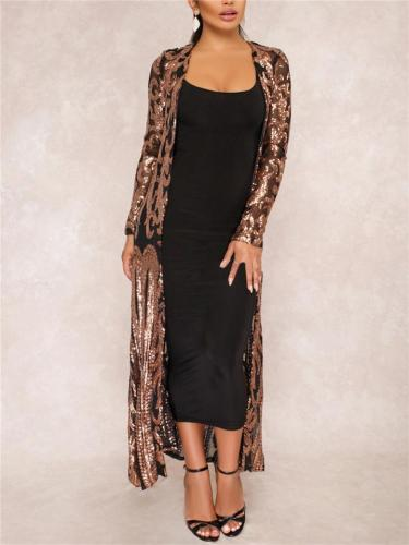 Vintage Style Sequined Gatsby Robe Dress