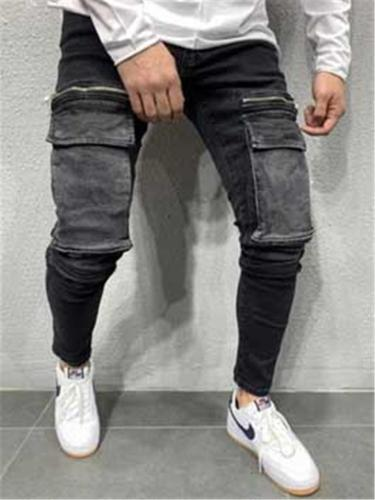 Casual Hip Hop Jeans With Kangaroo Pockets