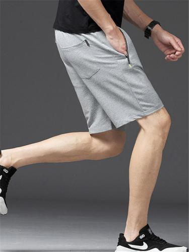 Knitted Casual Breathable Lightweight Knee Sports Shorts