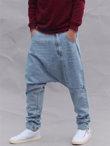 Mens Fashion Hip Hop Baggy Street Jeans