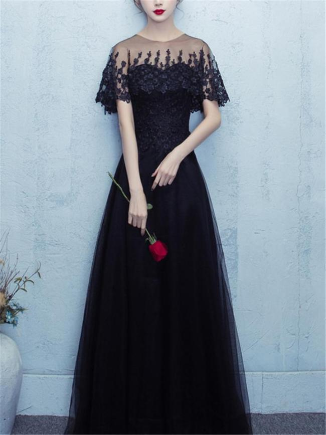 Gorgeous Applique A-Lined Tulle Dress for Wedding