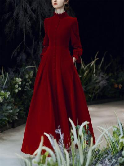 Gorgeous Pleated A-Lined Maxi Dress for Formal Party