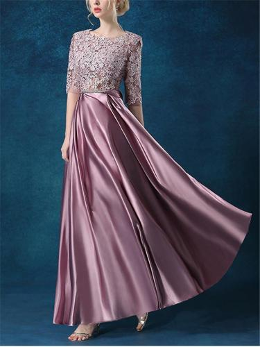 Gorgeous Floral Embroidered Fitted Waist Dress for Prom
