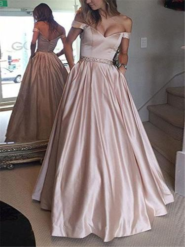 Gorgeous Sweetheart Neckline Off Shoulder Maxi Dress for Prom