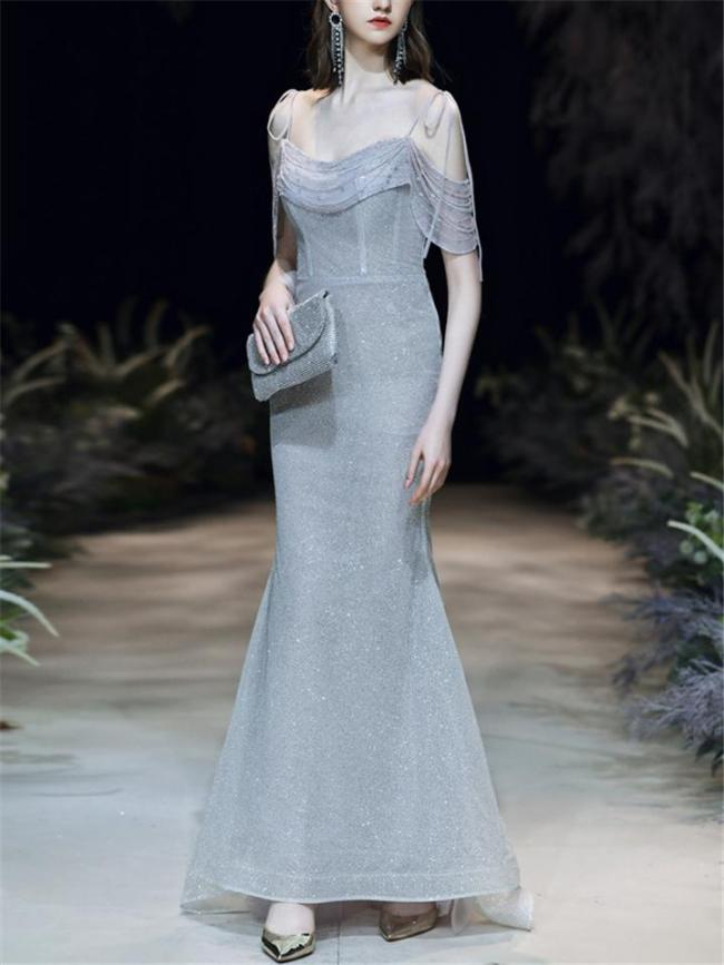 Gorgeous Backless Spaghetti Straps Mermaid Dress for Evening