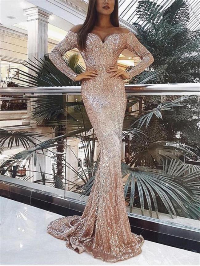 Flattering Sweetheart Neckline Off Shoulder Mermaid Dress For Prom