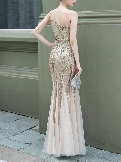 Gorgeous Sequined Mermaid Tulle Dress for Evening Party
