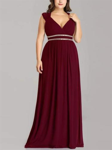 Flowing A Line Backless Fitted Waist Cap Sleeve Dress for Evening Party