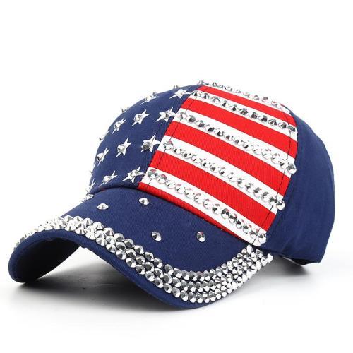 Outdoor  USA American Flag Sun Hats Plastic Decor Baseball Hats
