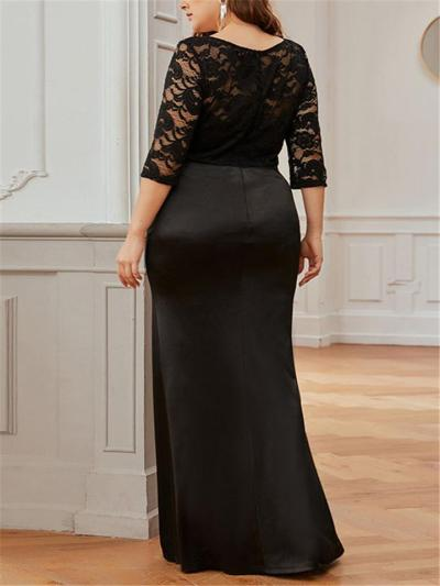 Pretty Fitted Waist Embroidery Maxi Dress for Formal Party