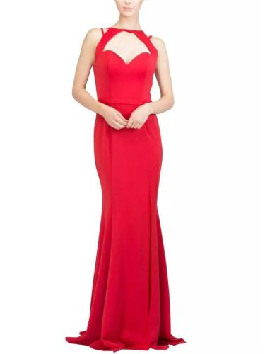 Stunning Halter Sweetheart Neckline Side Slit Trumpet Dress for Prom