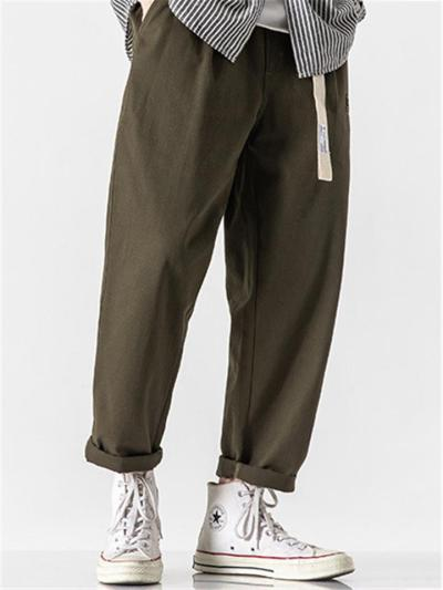 Fashion Loose Straight Cropped Cargo Trousers