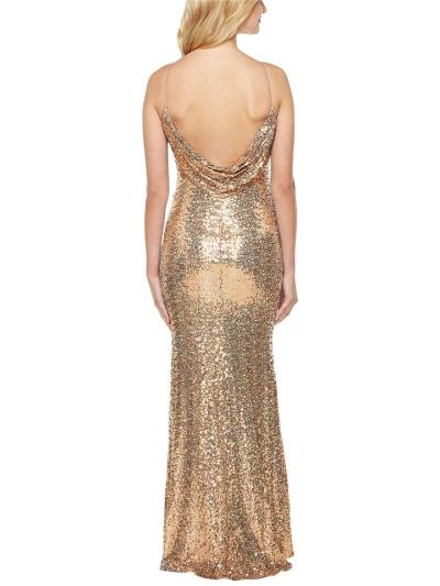 Stunning Sequined Halter Neck Backless Mermaid Dress for Prom