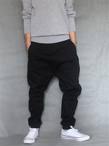 Casual Hip Hop Elastane Harem Ankle Pants