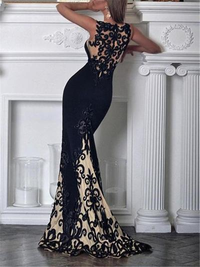 Stunning Sweetheart Neckline Floral Lace Mermaid Dress for Prom