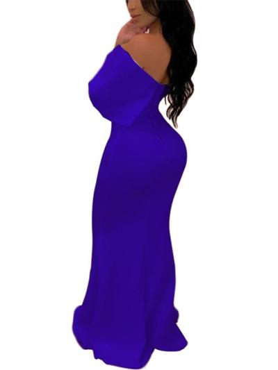 Flattering Fitted Waist Wrap Neck Mermaid Dress for Prom