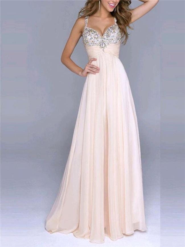Attractive Sequined Spaghetti Strap Fitted Waist Dress for Prom