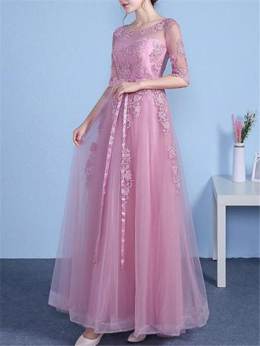 Pretty Fitted Waist A Line Tulle Dress for Prom