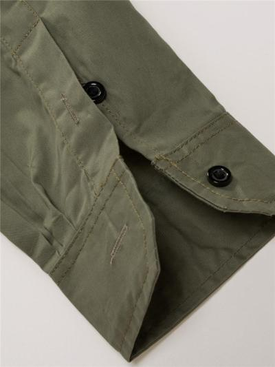 Outdoor Military Cotton Casual Full Zipper Long Sleeve Shirts