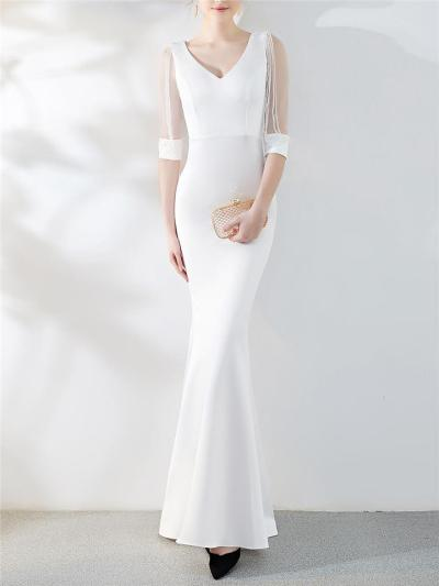 Gorgeous Fitted Waist Mermaid Maxi Dress for Evening Party