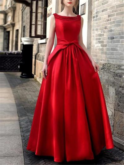 Pretty A Line Fitted Waist Maxi Dress for Formal Party