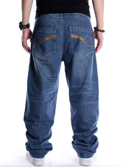 Hip Hop Loose Knitted Personality Straight Jeans