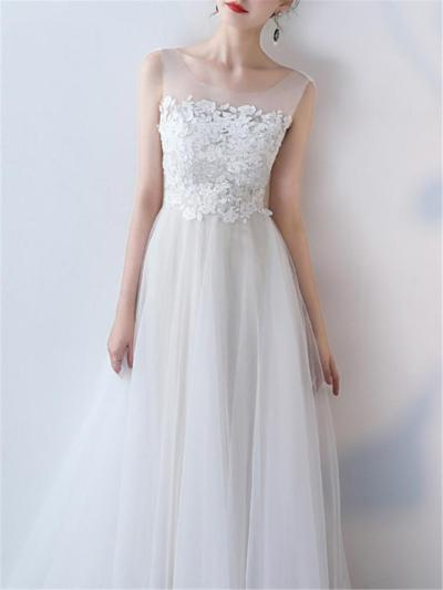 Gorgeous Fitted Waist A Line Lace Dress for Formal Party