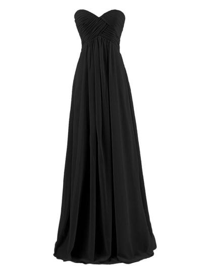 Pretty Strapless Sweetheart Neckline Tulle A-Line Gown Dress for Wedding