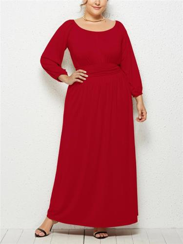 Pretty Round Neck Empire Waist Maxi Dress for Evening Party