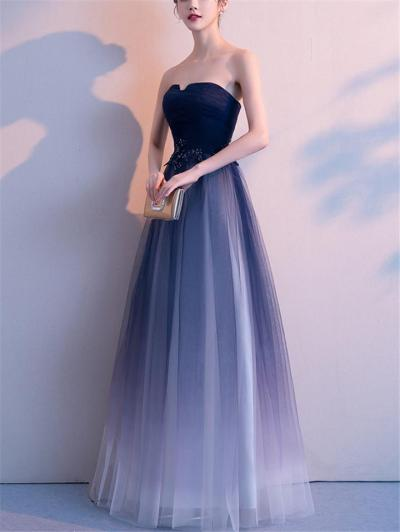 Gorgeous Strapless Tulle Ball Gown Dress for Evening