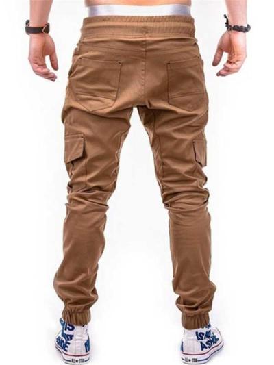 Casual Jogging Drawstring Elastic Waist Cargo Pants