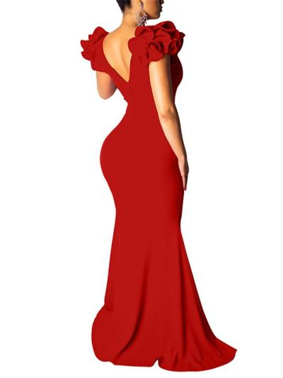 Sexy Sweep Train Bodycon Mermaid Evening Dress for Evening Party