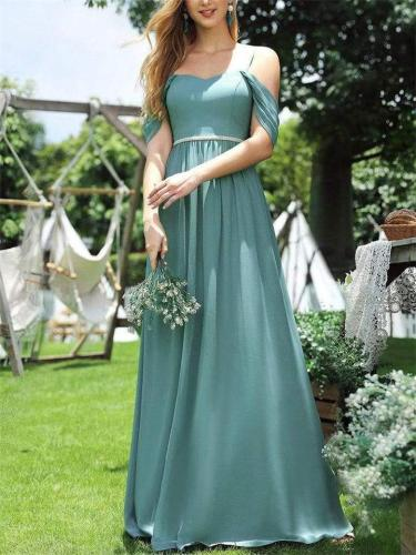 Pretty Cold Shoulder Spaghetti Straps Gown for Party